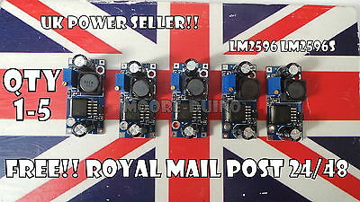 1 3 5 x LM2596 DC-DC Buck Converter Adjustable Power Supply Step Down Module UK