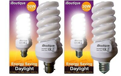 iBoutique 30W Bayonet B22 Screw E27 Output 150w - Extra Bright Efficient Bulb
