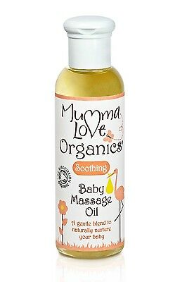 MUMMA LOVE ORGANICS SOOTHING BABY MASSAGE OIL 100ml - NO PARABENS, SILICONS