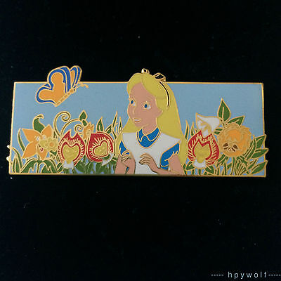 Disney Auctions ALICE IN WONDERLAND BREAD & BUTTERFLY SINGING FLOWERS LE 100 Pin