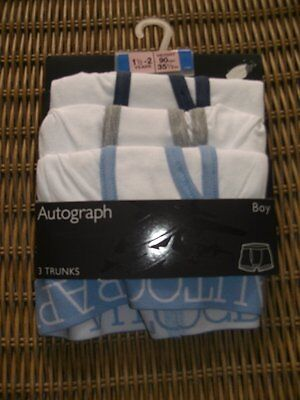 Ex-store Marks & Spencer 18-24 months 3 pack boxer shorts trunks style BNWT