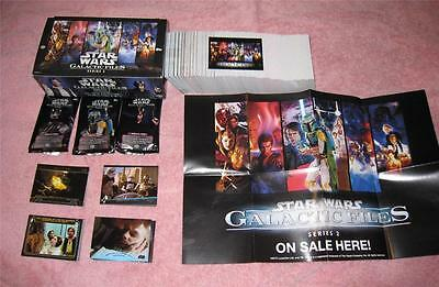 GALACTIC FILES Series 2 STAR WARS Mini Master Set 387 Cards +Poster/Box/Wrappers
