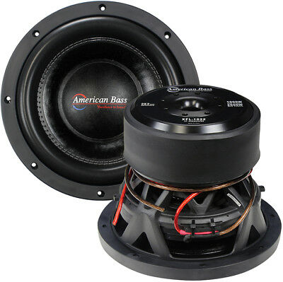 "New American Bass Xfl1022 10"" Dvc 2000W Car Audio Subwoofer 10In Sub Woofer"