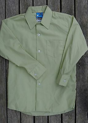 Vintage retro 60s unused 6 yo boys green shirt NOS as new