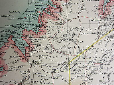 1921 Large Map ~ Australia Western Section ~ Perth Albany