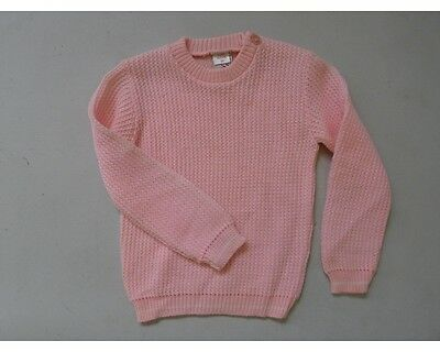 vintage retro original 50s unused 1 yo pink wool jumper top  NOS