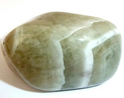 PRASIOLITE  (GREEN AMETHYST) Tumbled Stone  -  Heart Chakra Healing, Higher Self