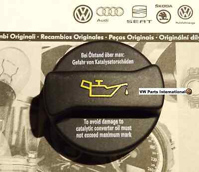 VW Golf MK4 MK5 MK6 GTI R32 R Scirocco Engine Oil Filler Cap Plug Genuine OEM