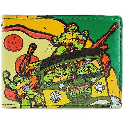 New Official Awesome Teenage Mutant Ninja Turtles Pizza Time Bi-Fold Wallet