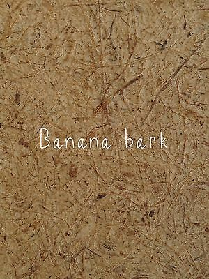5x Banana Bark Recycle Handmade Saa Mulberry Paper - Card, Scrapbook