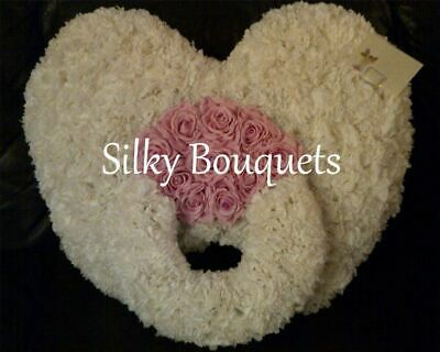 Dummy Artificial Silk Funeral Flower Tribute Memorial Baby Wreath Child