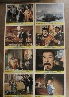 One Of Our Dinosaurs Is Missing Movie Poster Lobby Card Set Of 8 1975 Original