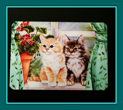 Two Adorable Fluffy Kittens On The Windowsill Refrigerator Magnet