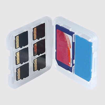8 Slots Micro SD TF SDHC MSPD Memory Card Protector PVC Box Storage Case Holder