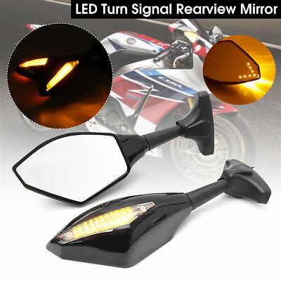 LED Motorcycle Indicator SIDE Mirrors for Yamaha YZF R1 R6 FZ6 FJR1300 FZR400