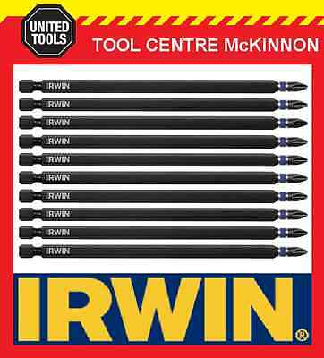 10 x IRWIN IMPACT PHILLIPS HEAD PH2 x 150mm POWER INSERT BITS FOR IMPACT DRIVERS