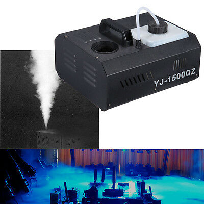 Stage Smoke Fog Effect Machine 1500W UpSpray Fogger DMX Wireless Remote Control