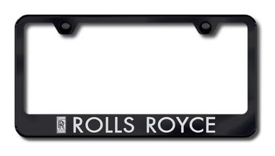 Rolls Royce Laser Etched Black Stainless Steel License Plate Frame XXXLF-ROL-EB