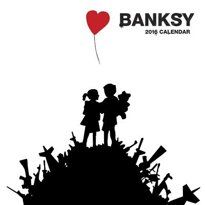 Banksy Official Wall Calendar 2016 Square New & Sealed