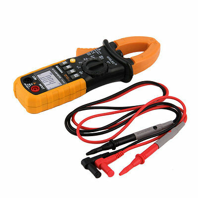 Digital Clamp Meter DC AC Volt AC Amp Ohm Tester MS2008A 2000 Counts LCD SN