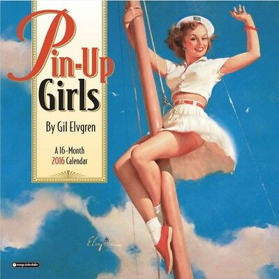 Pin-up Girls Official Wall Calendar 2016 Square New & Sealed