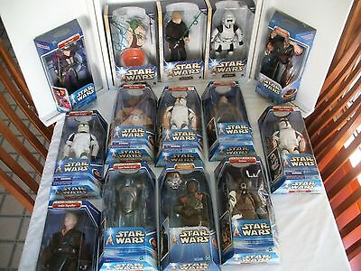 "Selection Of Star Wars Saga Collection 12"" Action Figures ~ Misb"