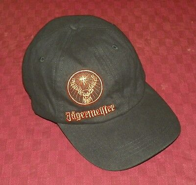 Jagermeister Logo Pattern - Baseball Cap / Baseball Hat - Black & Orange