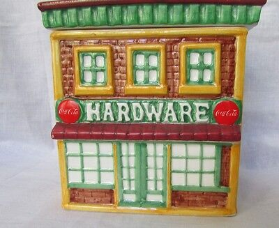 Coca Cola Hardware Store Canister Collection 1998 Miniature Building