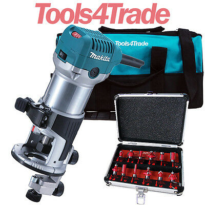 Makita RT0700CX4 1/4inch Router / Trimmer 110V with 12 Piece Cutter Set & Bag