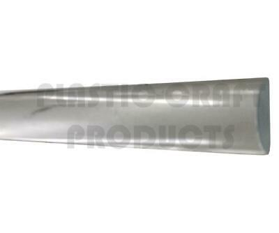 "Extruded Acrylic Half-round Rod 1"" x 3ft - Clear"