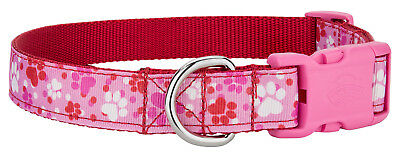 Country Brook Petz® Deluxe Puppy Love Ribbon Dog Collar with Pink Buckle