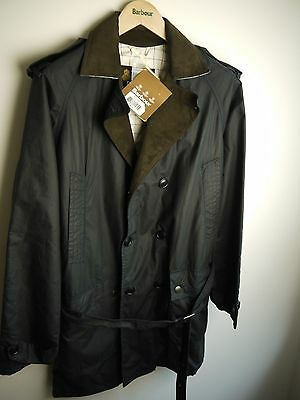 "Barbour Men's ""Owner"" Waxed Jacket, Navy Blue, Medium, New With Tags,"