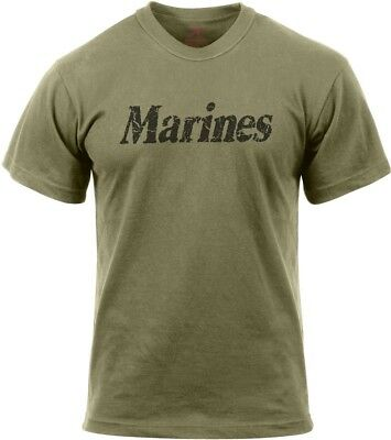 Olive Drab Marines Distressed Physical Training Workout T-Shirt