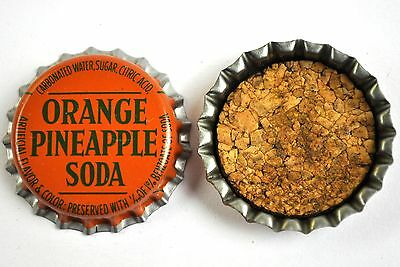 Vintage Orange Pineapple Soda Kronkorken USA Soda Bottle Cap