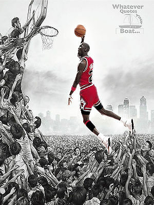 Michael Jordan Poster Print Quote Picture Wall Art Life Gift All