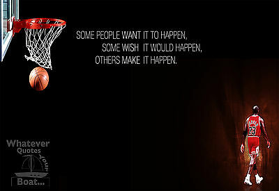 Michael Jordan Poster Print Quote Picture Wall Art Canvas