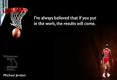Michael Jordan Poster Print Quote Picture Wall Art Canvas Life Gift
