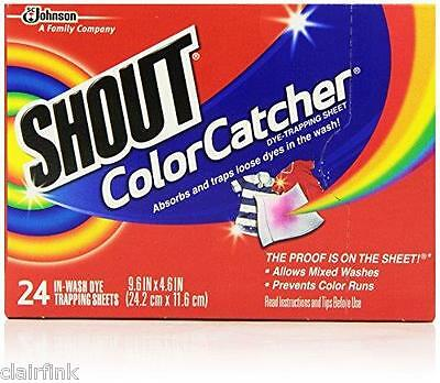 SHOUT Color Catcher In-Wash Dye-Trapping Sheets 24 ea (Pack of 9 ...