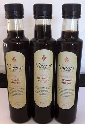Balsamic Vinegar 3 x 250ml Bottles The Vinegar Factory Made in Australia New