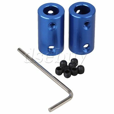 2pcs 8mm to 8mm Aluminum Shaft Rigid Coupling Coupler Motor Connector D14L25