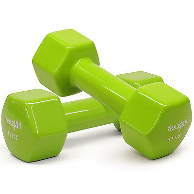 PVC Coated Dumbbell Fitness Hand Weight 11 lbs Pair (22 lbs Total) - ²7DA0D