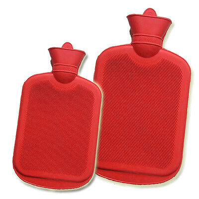 Hot Water Bottle 2L 1L Snuggle Cover Winter Warmer Safe Ribbed Natural Rubber