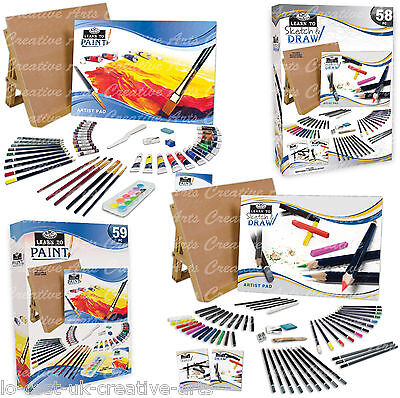 Royal Langnickel Learn To Paint / Learn To Sketch & Draw Table Easel Art Sets