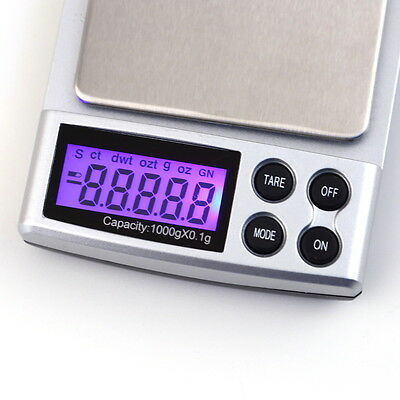 New 1kg 1000g x 0.1g Digital LCD Balance Pocket Scale Jewelry Weight Scale LO