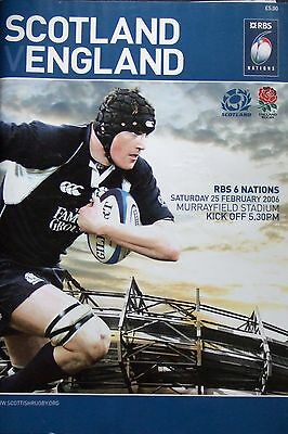 Scotland v England 25/2/06 RBS 6 Nations Rugby Union Programme