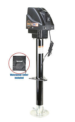3500lbs Electric Power Tongue Jack with 7-Way Plug for RV Trailer & Camper