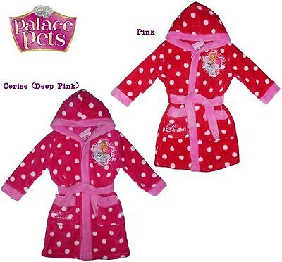 Girls bathrobe Disney Princess Palace Pets hooded bathrobe dressing gown