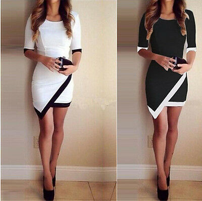 Summer Women Bandage Short Sleeve Evening Party Cocktail Mini Dress