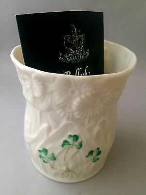 BELLEEK DAISY COLLECTION VOTIVE w Candle MINT
