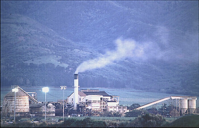 """WAIALUA SUGAR MILL OAHU 1989  FROM TRANSPARENCY PRINTED ON 12x18""""  UNMOUNTED"""